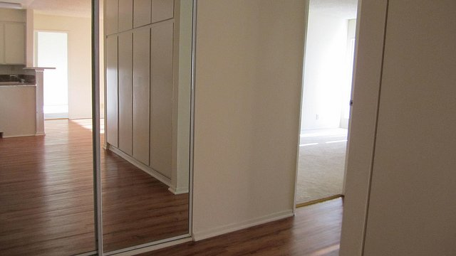 mirrors to plain door closet