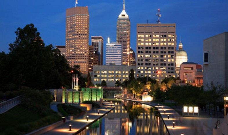 Indianapolis Indiana United States a typical Midwest City
