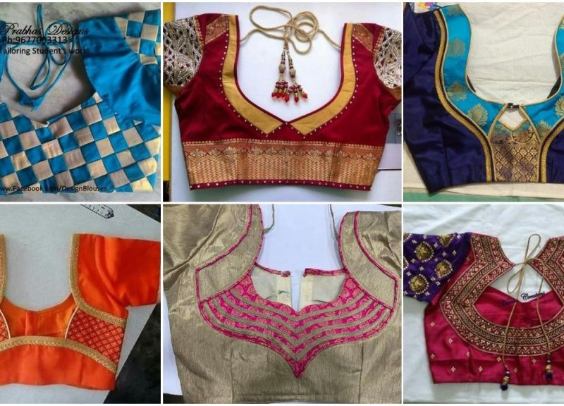 Back neck blouse designs