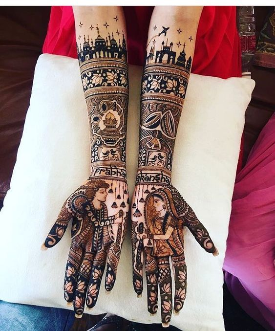 Varmala Sindoor henna tattoo designs
