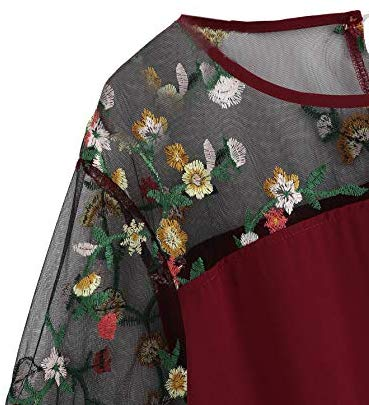Plus Size Floral Embroidery Knot Short <a href=