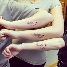 Sister Tattoos For 3: word sister