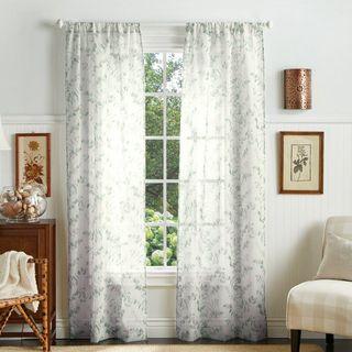 Eucalyptus Floral Semi-Sheer Curtains