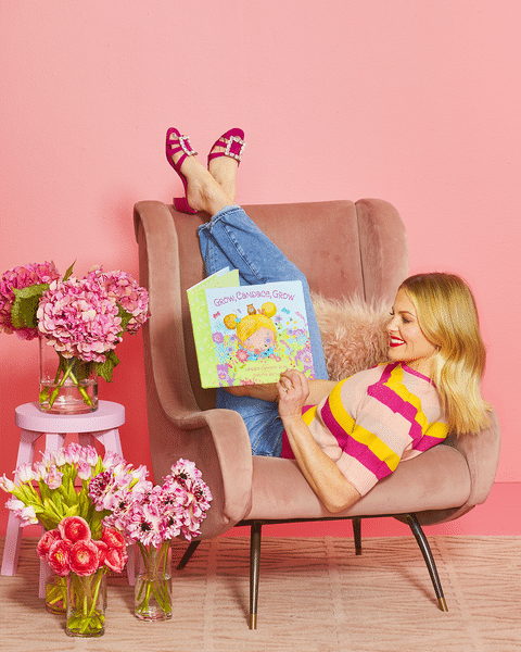 Candace Cameron Bure reading her book