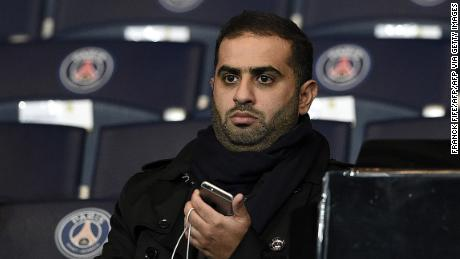 Yousef al-Obaidly attends the Champions League group match between PSG and Shakhtar Donetsk in 2015.