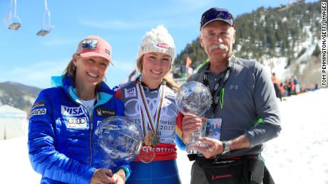 Mikaela Shiffrin grateful she got to see her father in
