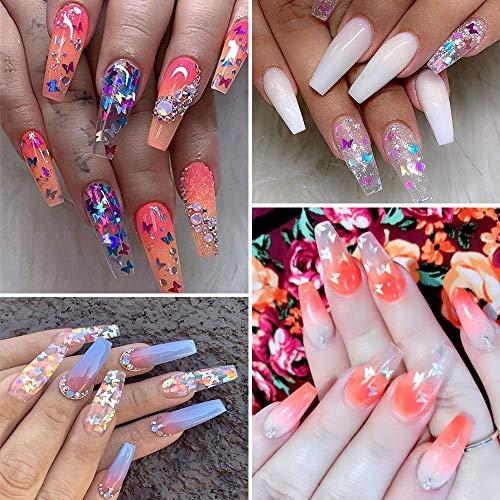 Butterfly Glitter Nails