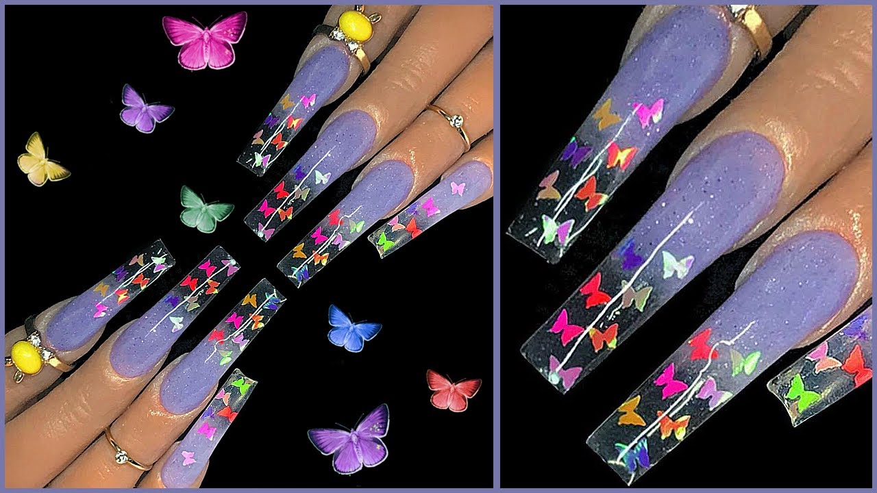 Butterfly Glitter Nails – How to Apply Butterfly Glitter Nails the Easy Way