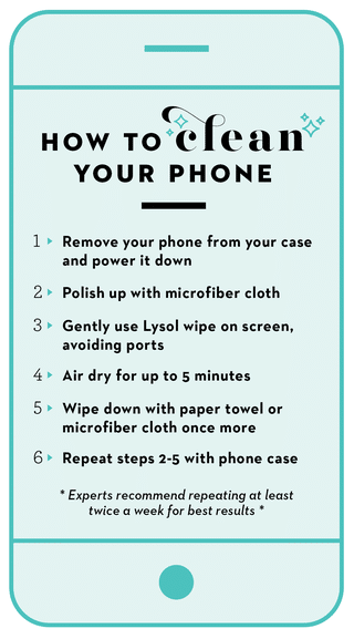 How to clean your phone properly - disinfect your phone safely