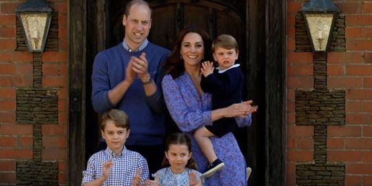 Kate Middleton, Prince William, and Kids Clap for Carers Together