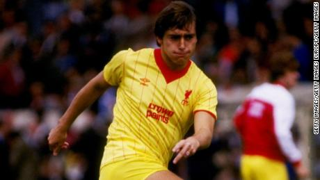 Michael Robinson playing for Liverpool in 1983.