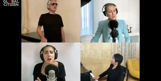 """Lady Gaga Sing """"The Prayer"""" with Celine Dion, Andrea Bocelli"""