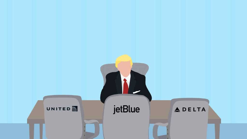 Trump meets airline executives