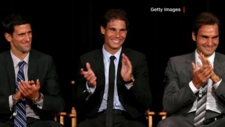 Djokovic, Nadal and Federer have 56 grand slams between them.