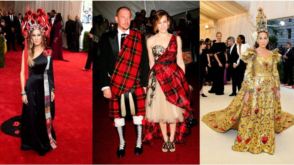 Sarah Jessica Parker: the most beautiful looks at the Met