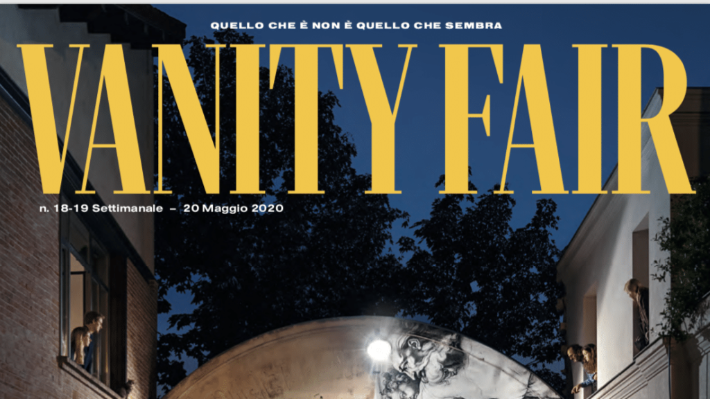 Vanity Fair: the first cover of an Italian magazine