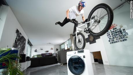 Wibmer describes riding his bike at home as a