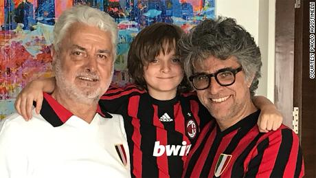 Paolo Agostinelli, on the right, is pictured with his father and son.
