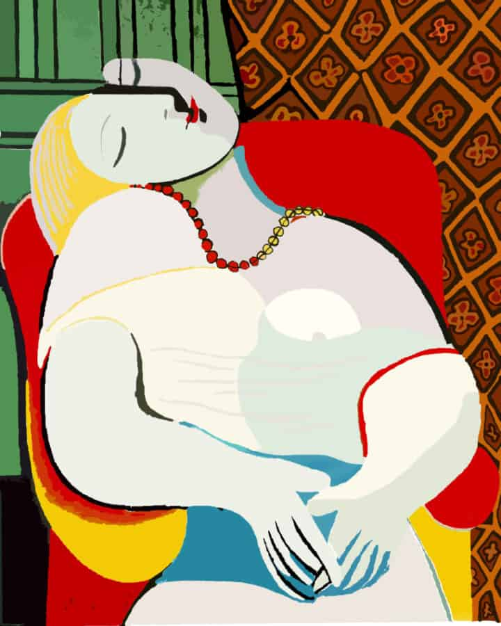 Most Expensive Paintings - Le Rêve - Pablo Picasso