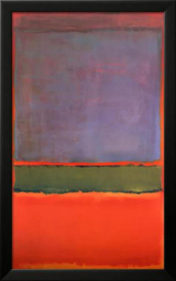 Most Expensive Paintings - No. 6 (Violet, Green and Red) - Mark Rothko