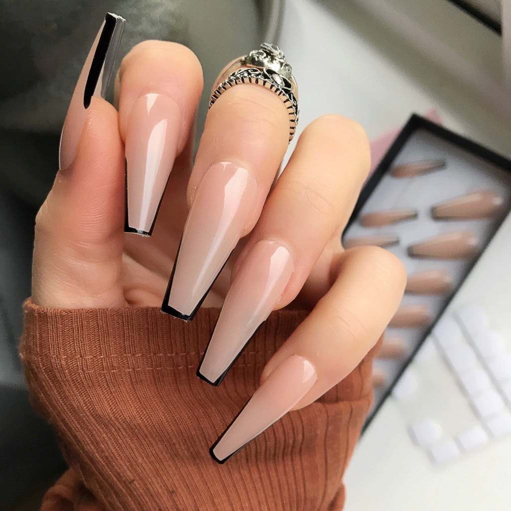 Dazzle Your Guests With Coffin Tip Nails