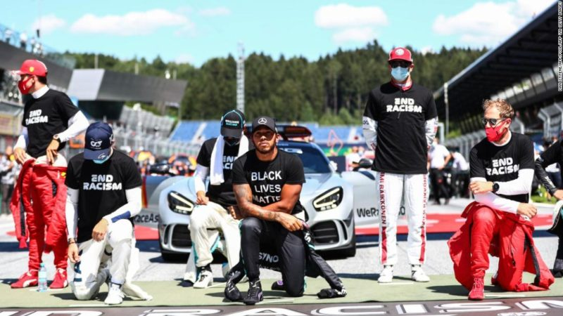 F1 drivers divided as several choose not to kneel in support of Black Lives Matter movement ahead of Austrian Grand Prix