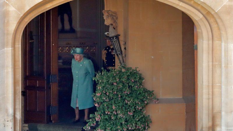 Queen Elizabeth in lockdown is comforted by her grandchildren