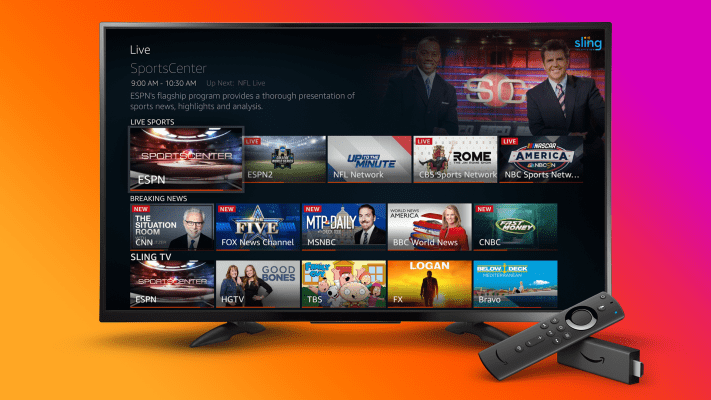Amazon Fire TV now pulls in live TV content from Sling TV, YouTube TV and Hulu + Live TV – TechCrunch