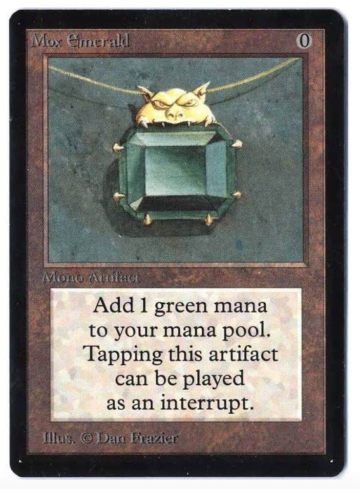 The most expensive Magic The Gathering Cards - Mox Emerald