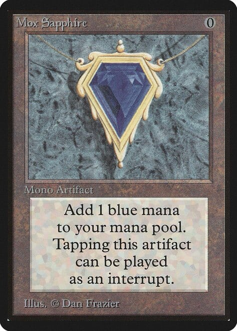 The most expensive MTG cards - Mox Sapphire