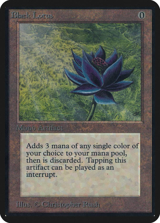 The most expensive MTG cards - Black Lotus