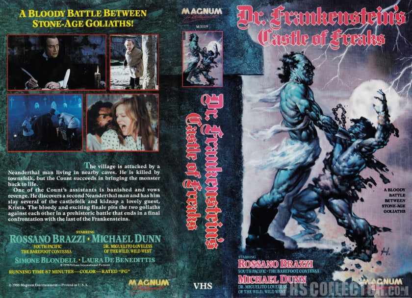 The Most Expensive VHS Tapes - Frankenstein's Freaks Castle