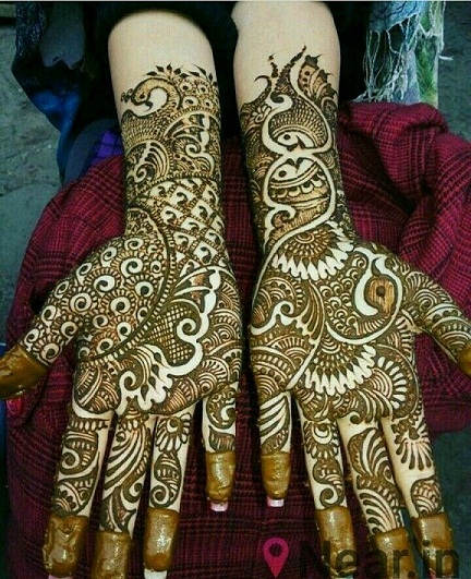 Simple Bridal Henna With Arabic Touch
