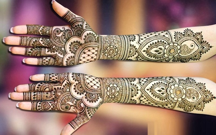 Front And Back Hand Mehendi