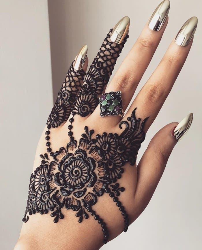 New mehndi design for back hand