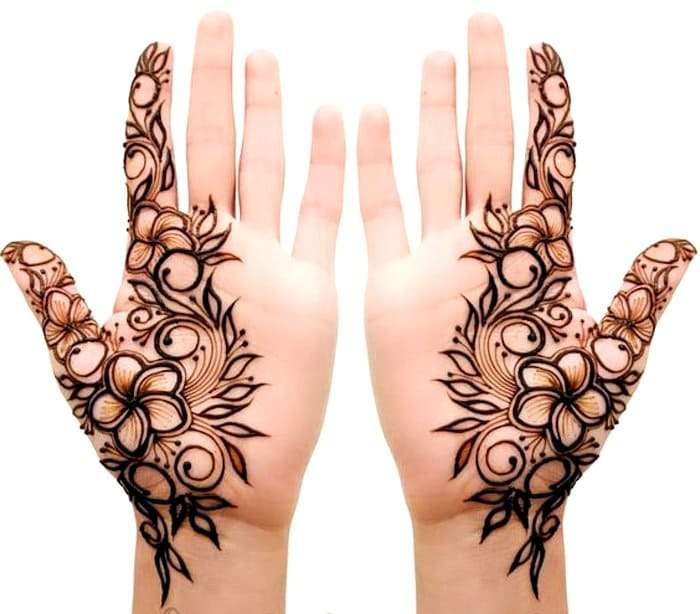 Simple new arabic design of mehndi