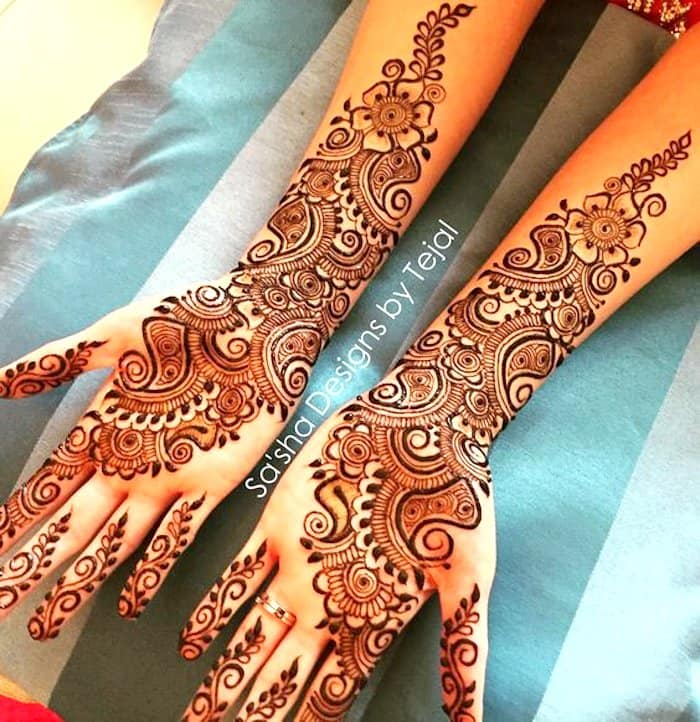 Full Hand latest arabic mehndi