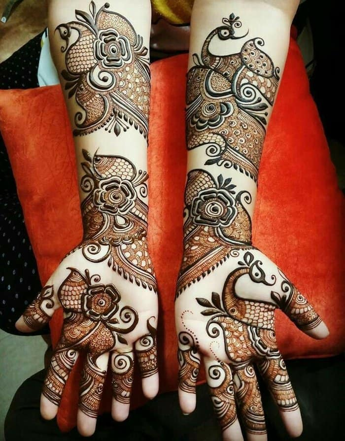 Dulhan arabic designs of mehndi