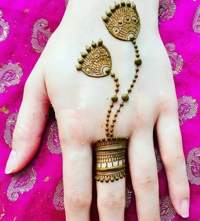 Mehndi photo for fingers