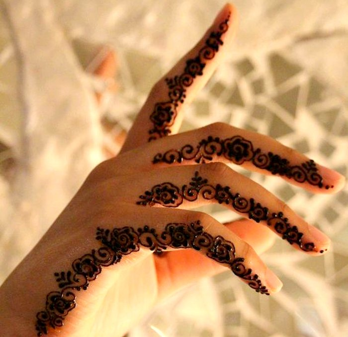 Trendy mehndi tattoo designs for fingers