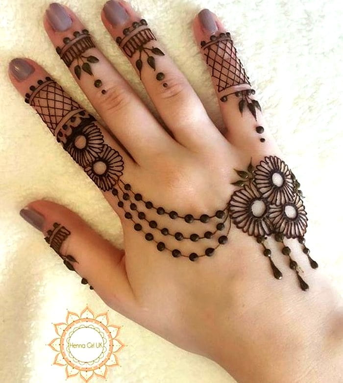 Arabic fingers mehndi photo