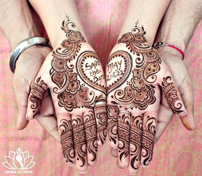 Beautiful heart shape henna art