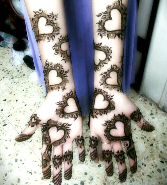 Latest unique arabic mehndi art