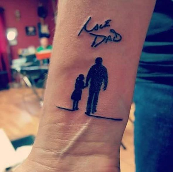 Memorial Tattoos For Daughter And Dad