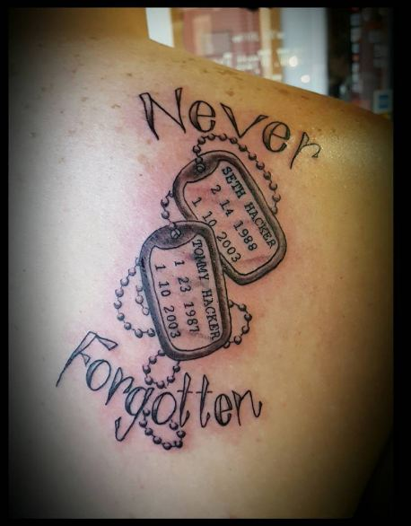 Happy Memorial Tattoos