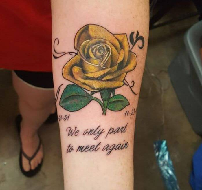 Rose Memorial Tattoos