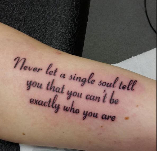 Fabulous And Cool Quotes Tattoos Design And Pics
