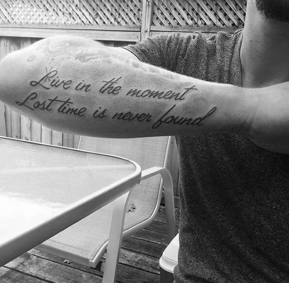 Quote Tattoos On Forearm Pics