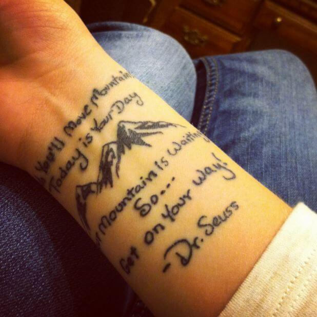 Quote Tattoos On Wrist
