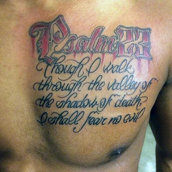 Quote Tattoos On Chest